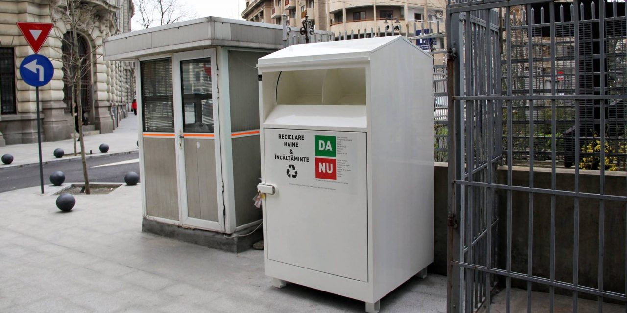 Primul container din București pentru colectarea hainelor ce vor fi donate în scop umanitar
