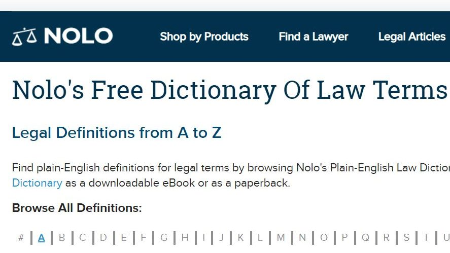 Dicționare online de termeni juridici