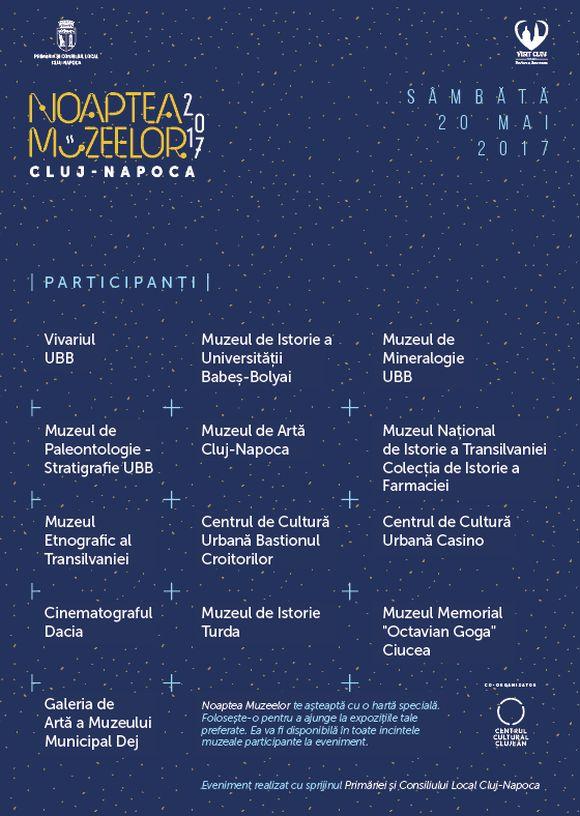 Noaptea-Muzeelor-2017 program Cluj