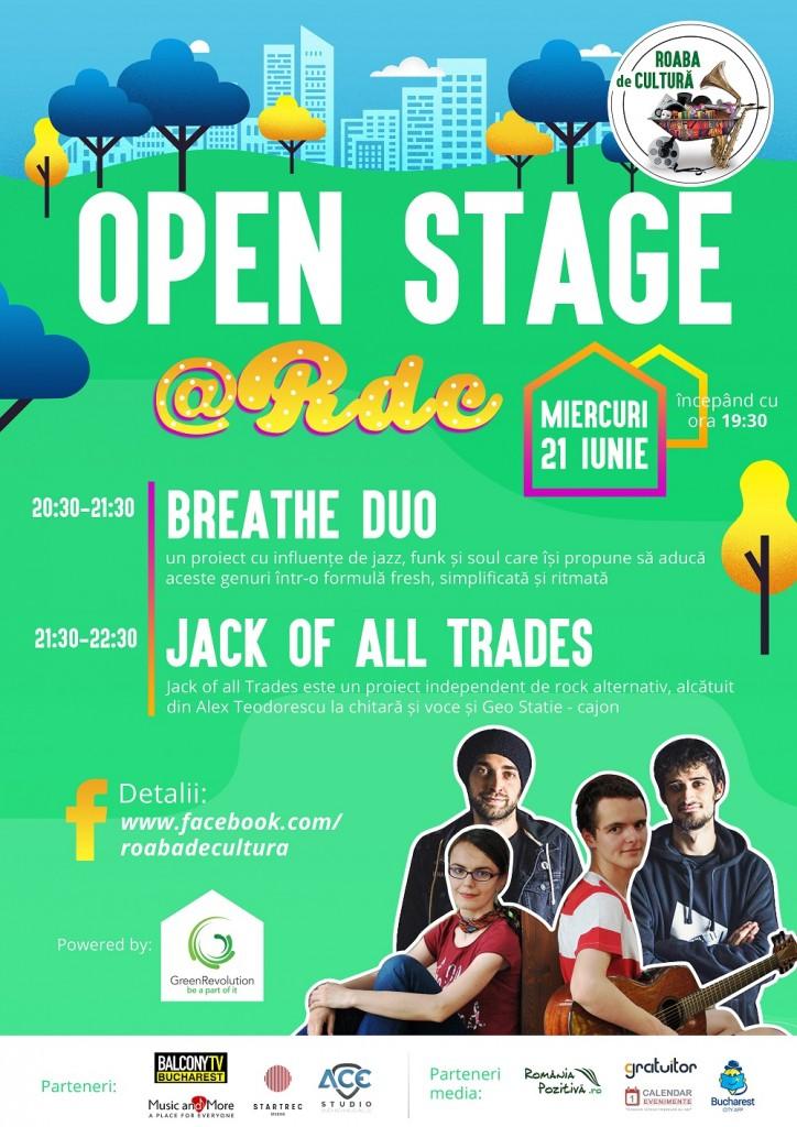 Open Stage 21 iunie - Roaba de Cultura