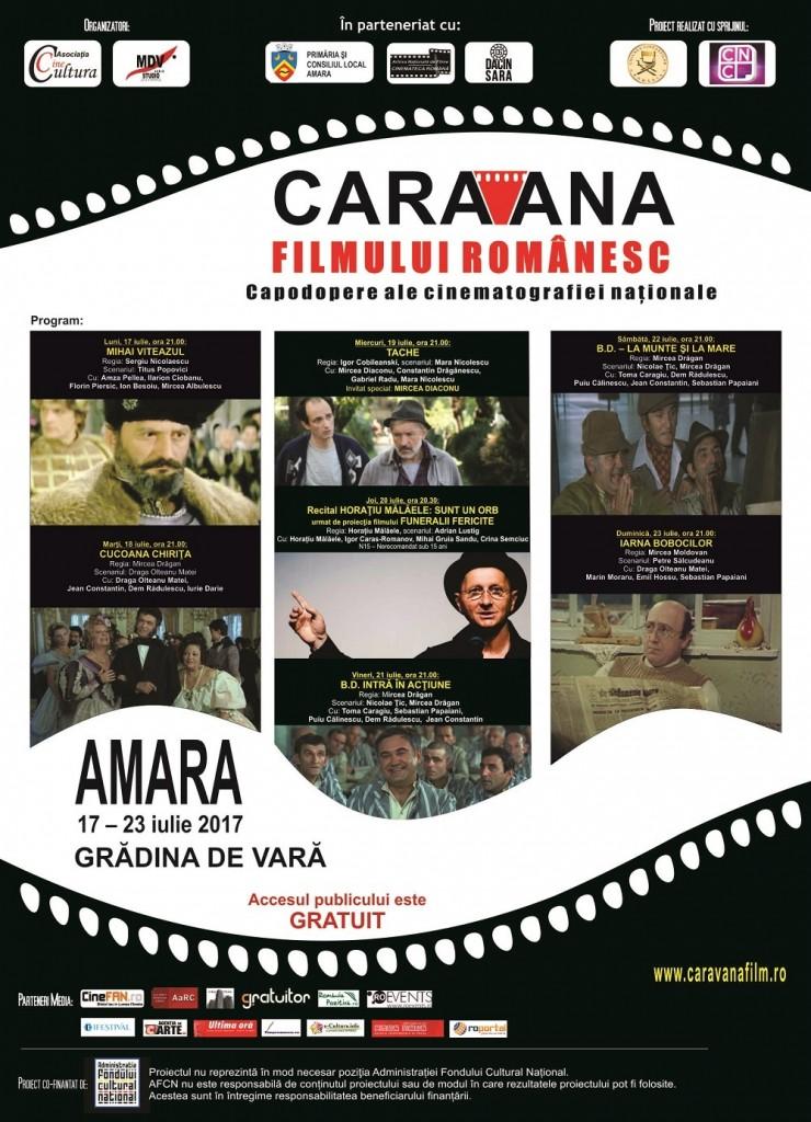 Carava Filmului Romanesc la Amara - Iulie 2017