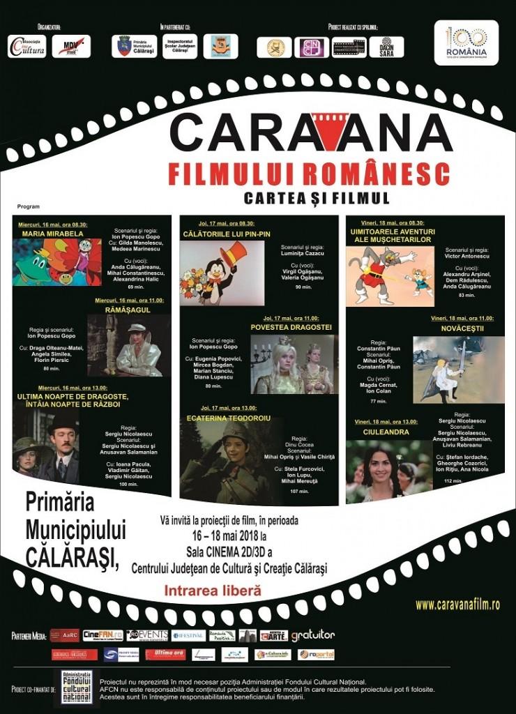 Caravana filmului romanesc la Calarasi 2018