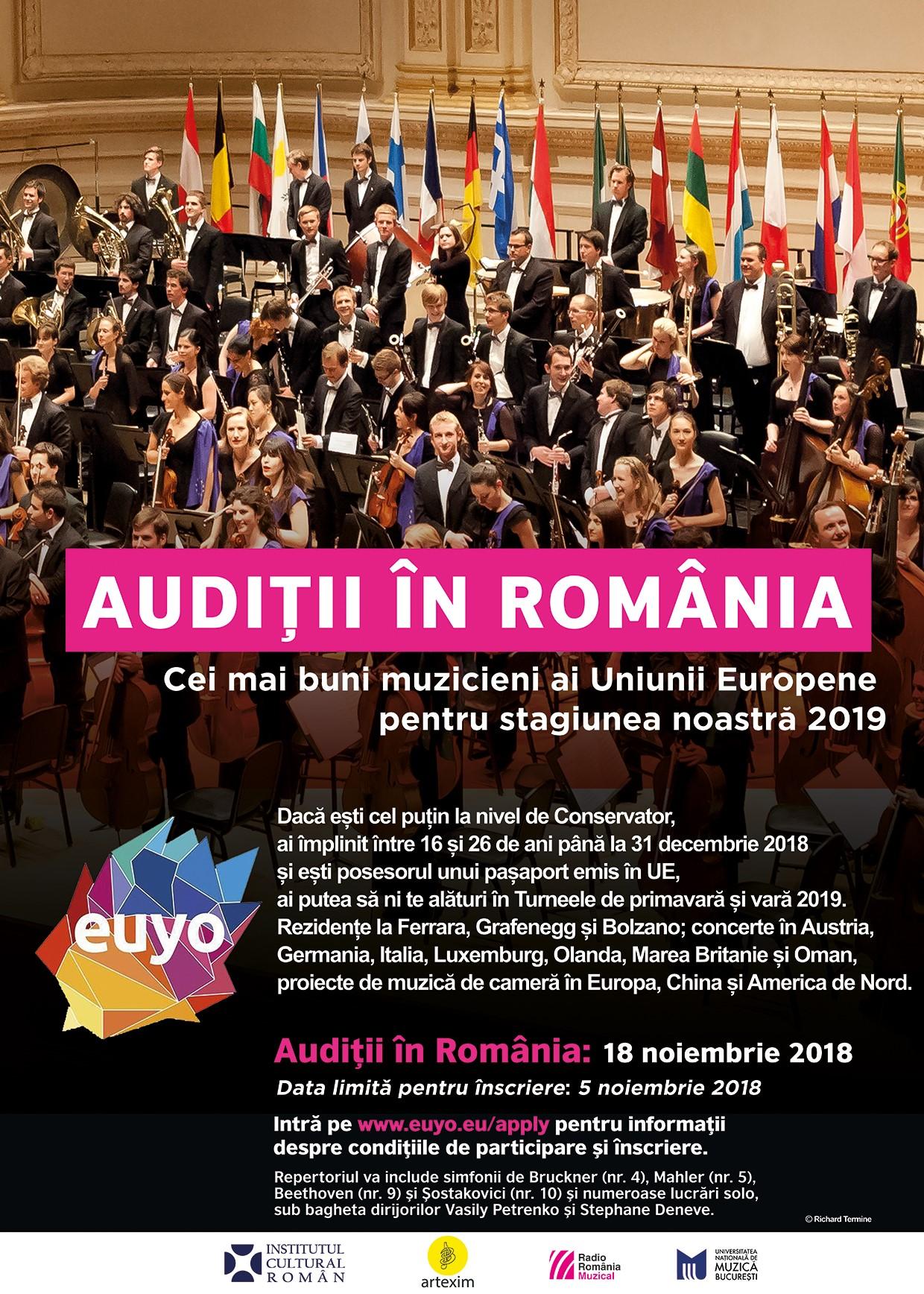 Audiții în România pentru Orchestra de Tineret a Uniunii ...