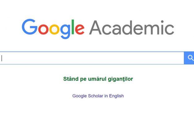 Google academic – Bibliotecă virtuală de resurse aca...
