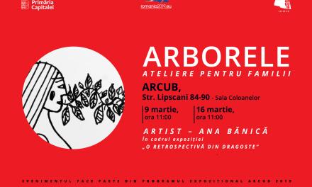 Ateliere pentru familii și live performance cu artista Ana Bănică, în luna martie, la ARCUB